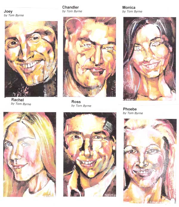 tombyrne's abstracts of the cast of friends.