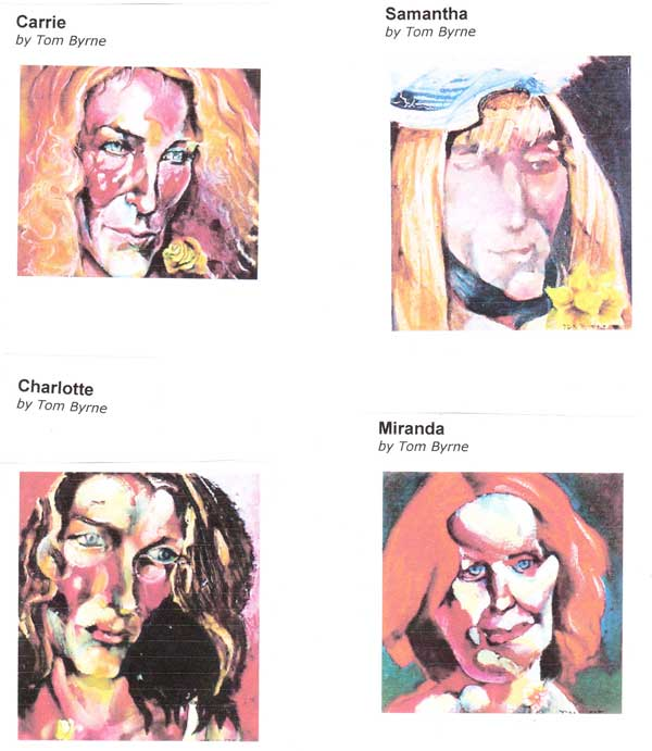 tombyrne's abstracts of the cast of Sex in the City.